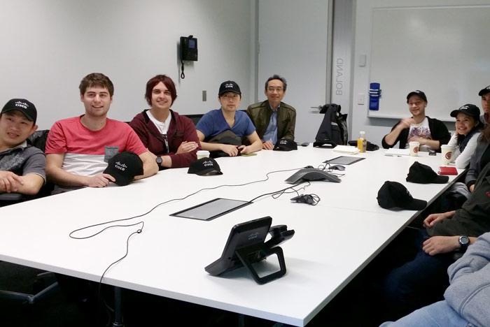 Central students at a Cisco seminar