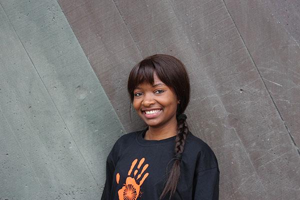 Student ambassador Natemwa Lwenje