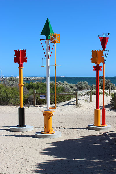 'Wayfinders' - A cluster of sculptures for Sculpture at Bathers 2013